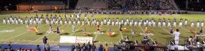 Buckhorn High School Marching Band at football game