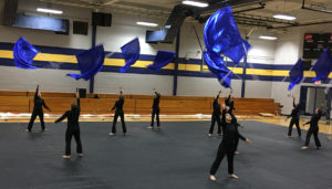 Winter Guard Rehearsal