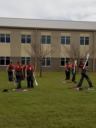 stone river championship Color guard 2warming up