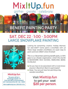 PAINT A LARGE WOODEN SNOWFLAKE! @ Lowe Mill ARTS & Entertainment, Studio 114